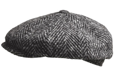 grey wool newsboy flat cap