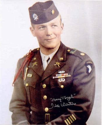 Captain Dick Winters band of brothers military portrait.