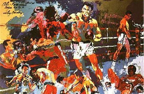 leroy nieman homage to ali painting boxing