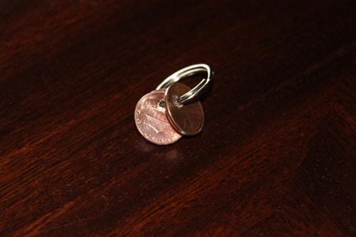 Diy penny charm keychain.