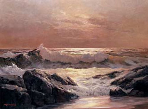 Robert Wood ocean painting