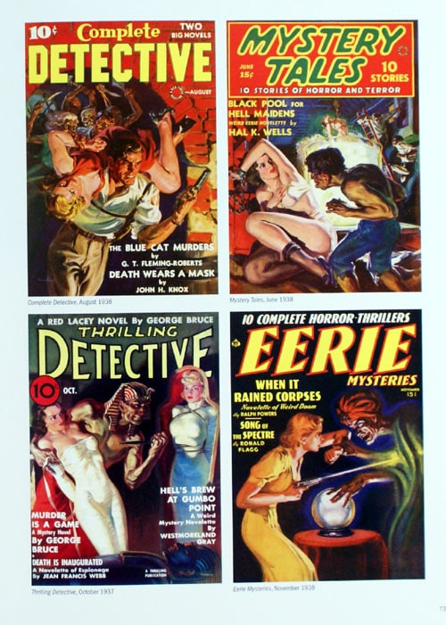 Norm Saunders artist detective book magazine covers.