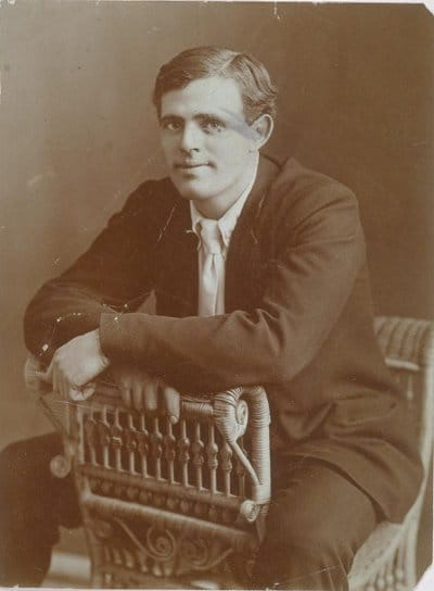 jack london portrait sitting posing in chair