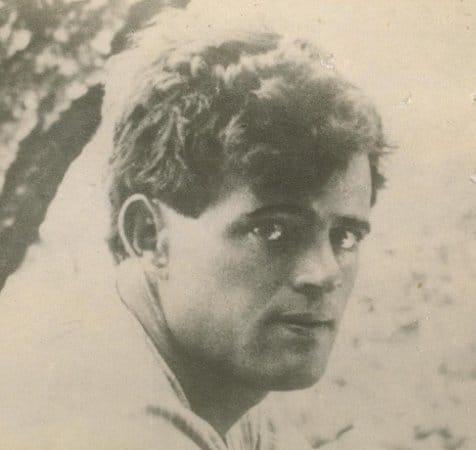 Vintage a man black and white illustration.