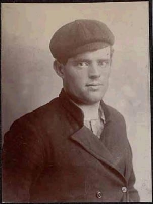 jack london portrait flat cap overcoat