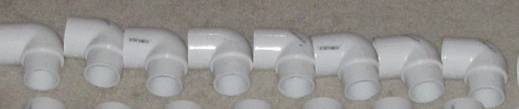 pvc pipe elbow fitting pieces