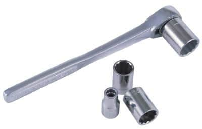 socket wrench with various sockets