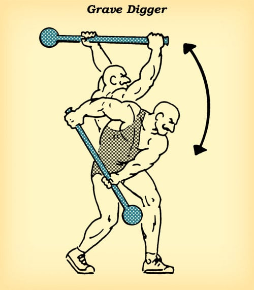 steel mace grave digger workout how to diagram illustration