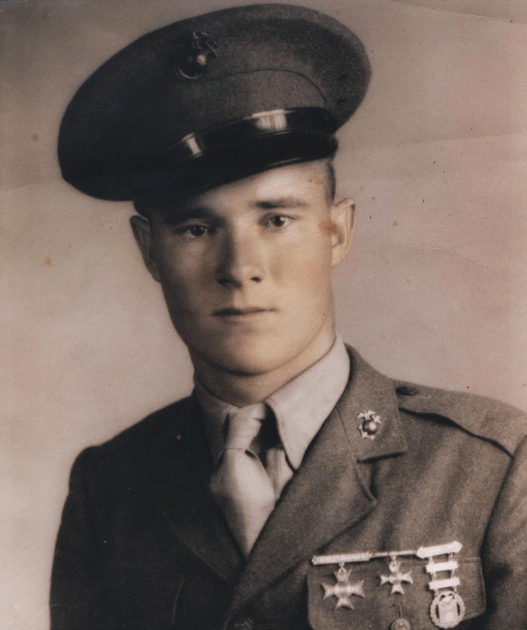 RV Burgin wwii soldier military portrait full uniform