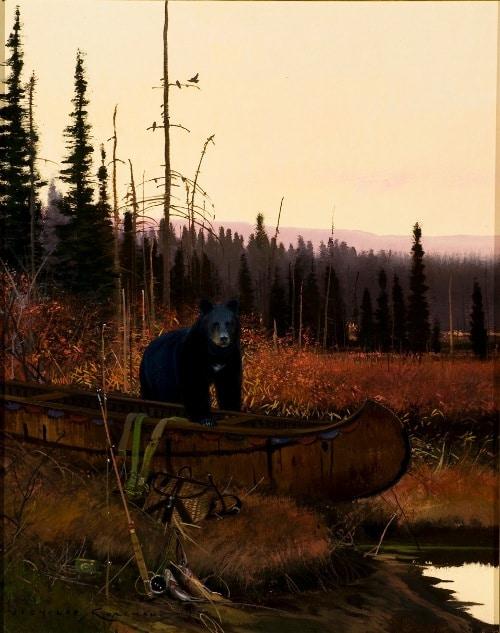 Nicholas Coleman bear painting western art