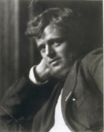 Jack London portrait slightly blurry headshot.