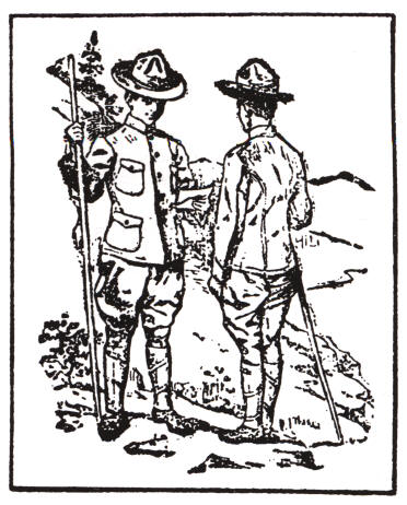 Vintage illustration from boy scouts handbook.