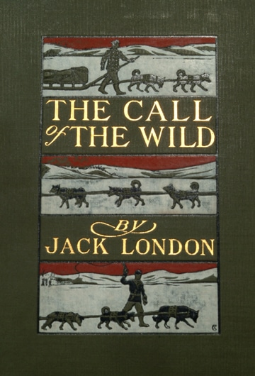 The call of the wild first edition book cover by jack London.
