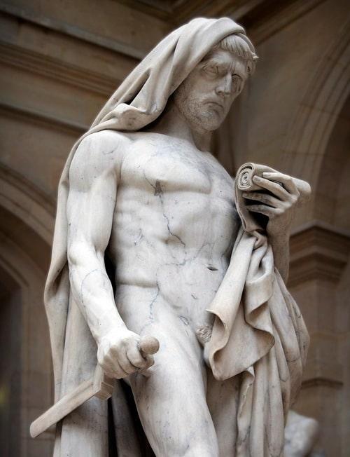 cato marble statue greek philosopher