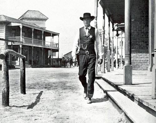 high noon movie old western gary cooper walking downtown