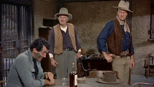 rio bravo old western movie film john wayne in sheriff office