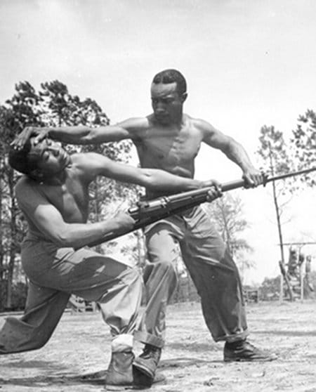 vintage african american black soldiers sparring training self defense