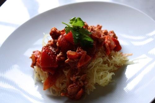 Turkey Bolognese + Spaghetti Squash