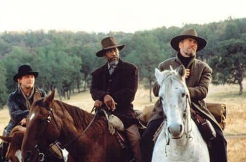 unforgiven western movie film riding horses