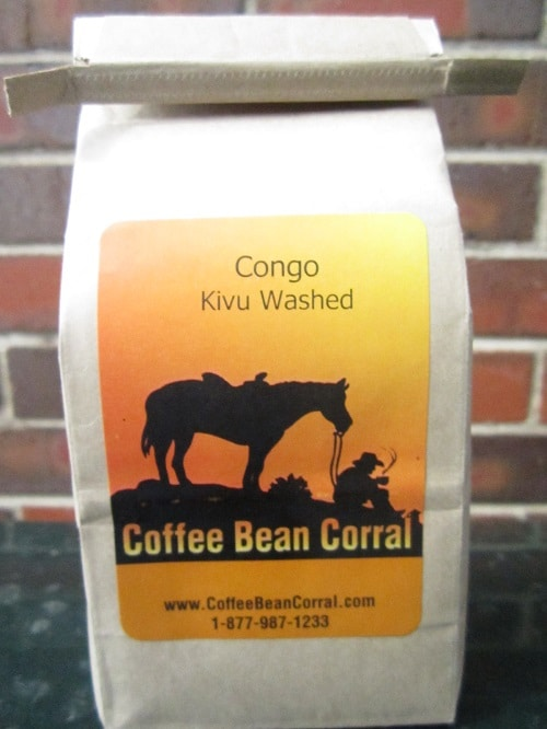 coffee bean corral bag of green unroasted coffee beans