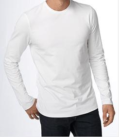 Vintage man wearing long sleeved t-shirt.