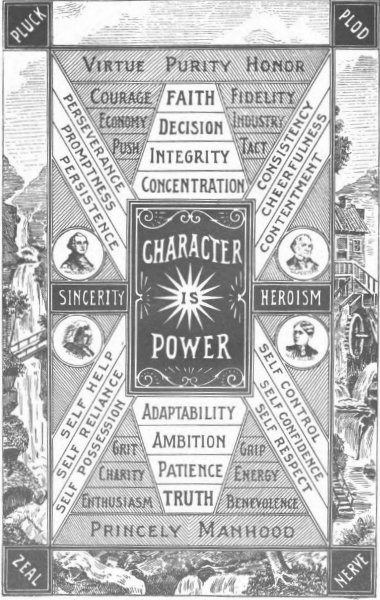 character is power vintage virtues poster