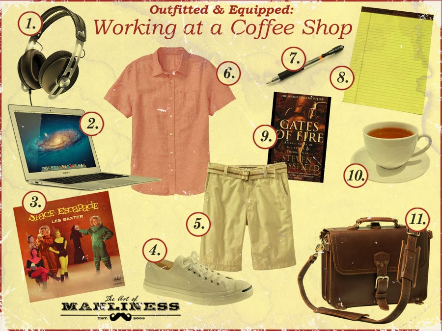 what to bring to a coffee shop for working