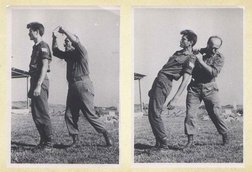 Imi Lichtenfeld, founder of Krav Maga, practicing martial arts