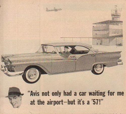 vintage car automobile rental ad advertisement avis