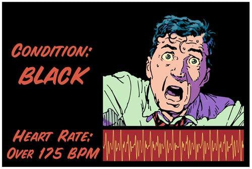 Black color code illustration.
