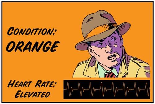 Orange color code illustration.