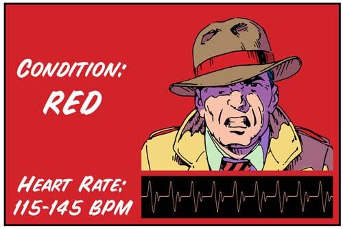 Red color code illustration.