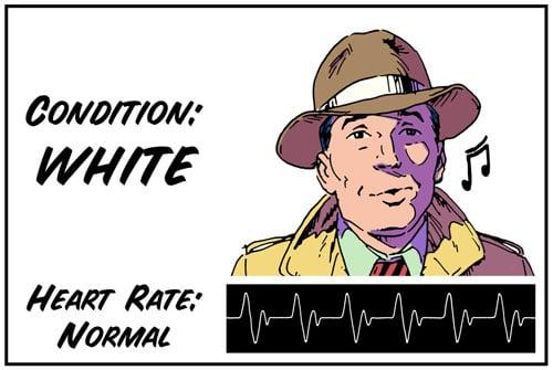 White color code illustration.