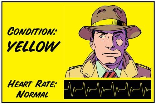 Yellow color code illustration.