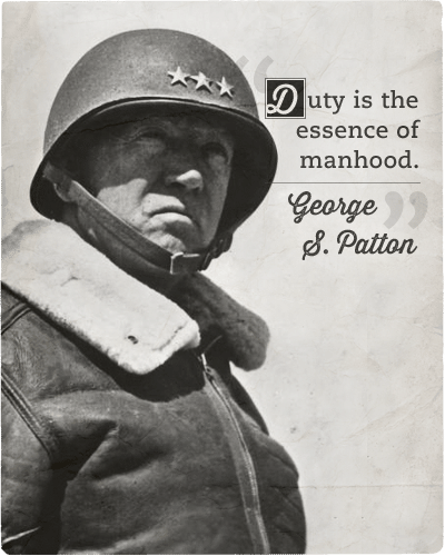 Quote about importance of duty by gorge s.patton .