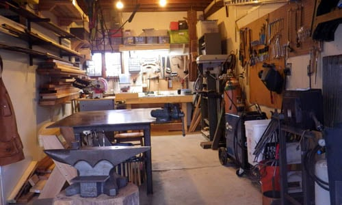 How To Turn Your Garage Into A Blacksmithing Amp Woodworking