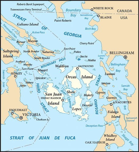 map of orcas islands san juan island pacific northwest