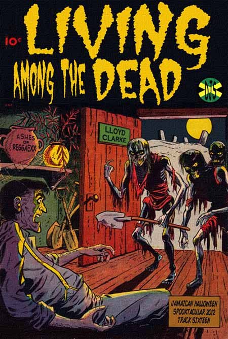 living among the dead magazine comic cover