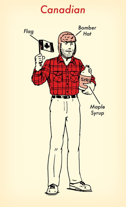canadian halloween costume red flannel shirt illustration