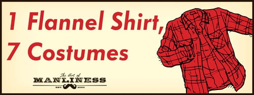 red flannel shirt halloween costume illustration