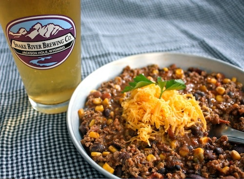 homemade Taco Soup snake river beer