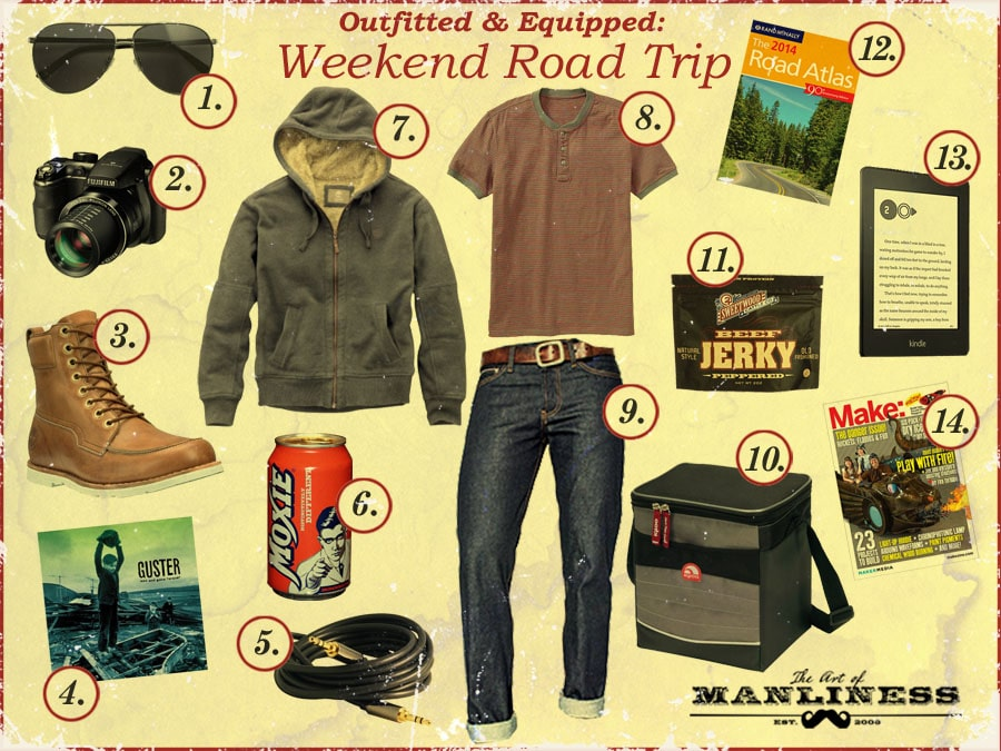 what to bring wear on a weekend road trip