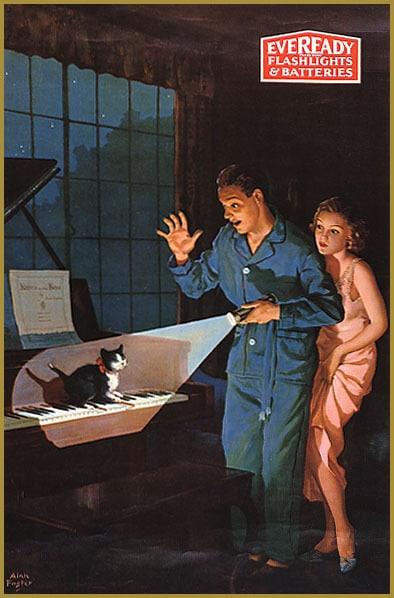eveready vintage flashlight ad advertisement
