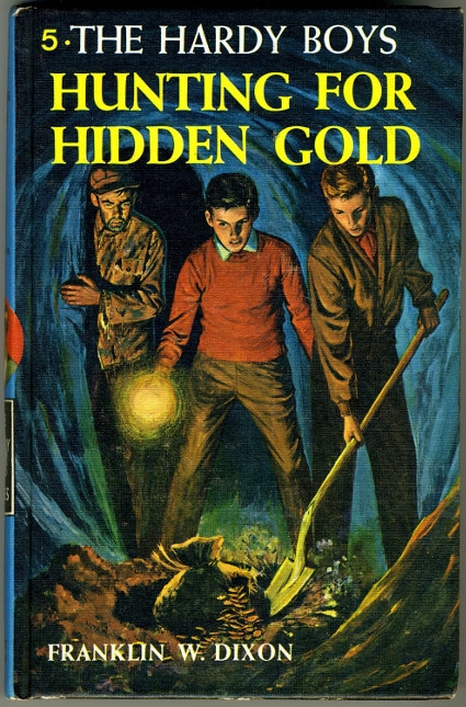 hardy boys hunting for hidden gold book cover