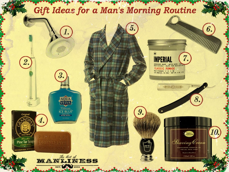 gift ideas for a man's morning bathroom routine