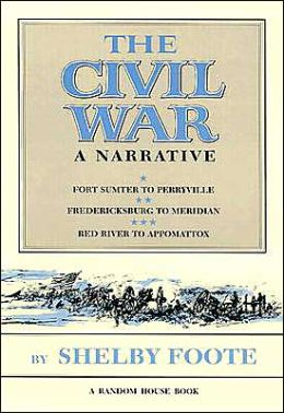 The civil war: a narrative by Shelby Foote, book cover.