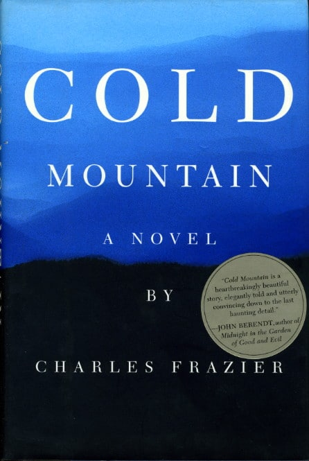 Cold mountain by Charles Frazier, book cover.