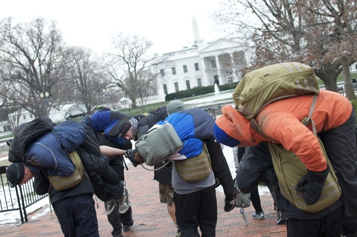 goruck challenge fireman's carry exercise