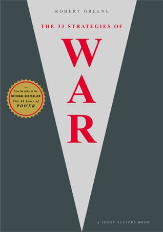 The 33 strategies of war by Robert Greene, book cover.
