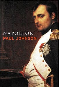 Napoleon: a life by Paul Johnson, book cover.